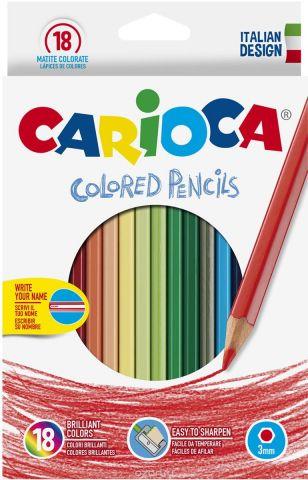 Carioca Набор цветных карандашей 18 цветов + точилка