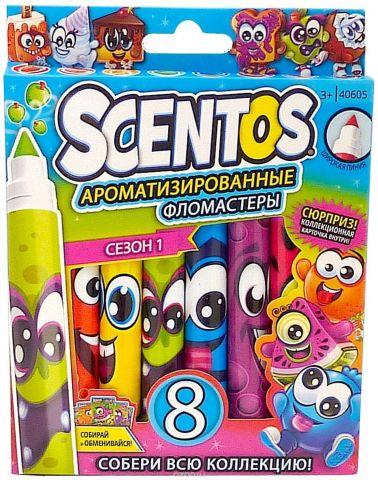 """Набор фломастеров """"Scentos"""", ароматизированный, 8 шт"""