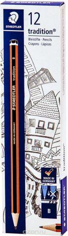 Набор чернографитовых карандашей Staedtler Tradition 110 B, 12 шт
