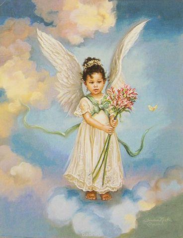 """Картина по номерам Школа талантов """"Ангел с цветами"""", 3462680, 30 х 40 см"""