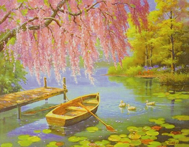 "Картина по номерам Школа талантов ""Лодка"", 3462684, 30 х 40 см"