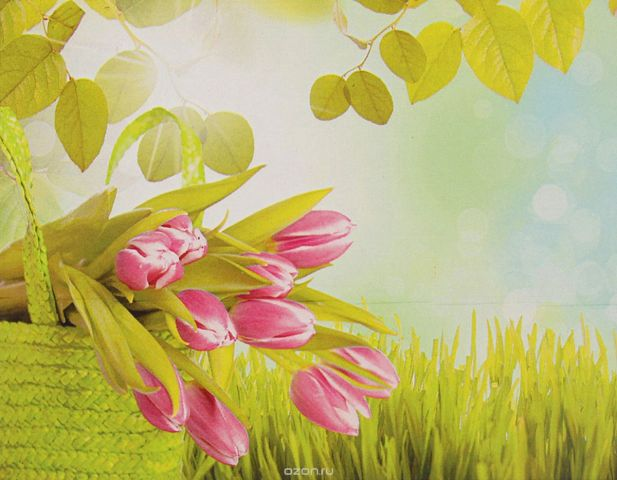 "Картина по номерам Школа талантов ""Тюльпаны в корзине"", 3462657, 30 х 40 см"