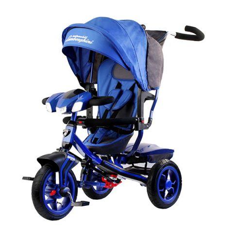 """LAMBORGHINI L3B Велосипед с руч. управ. ,надув.колеса 12""""/10"""",своб.ход,фара свет.звук,синий"""