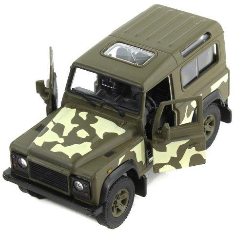Welly 42392CM Велли Модель военной машины 1:34-39 Land Rover Defender