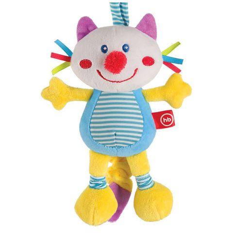 """Happy Baby 330360 Подвесная игрушка-растяжка с вибрацией """"Кот"""""""